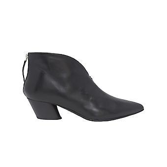 Halmanera Juny74black Women's Black Leather Ankle Boots