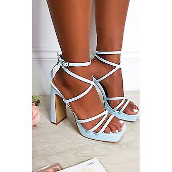 IKRUSH Womens Noa Strappy Block High Heels