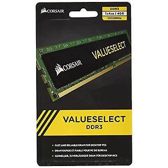 Corsair CMV4GX3M1A1333C9 Value Select 4 GB Memory Module, DDR3, 1333 MHz, CL9