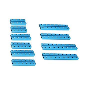 Palkit robotiikka rakenteet Makeblock 0824 (10 kpl) Sininen