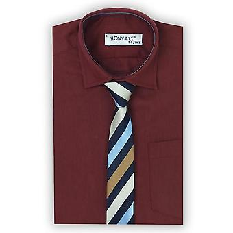 Page Boys Classic Collar Burgundy Shirt with Tie