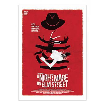 Art-Poster - En mardröm på Elm Street - Alain Bossuyt