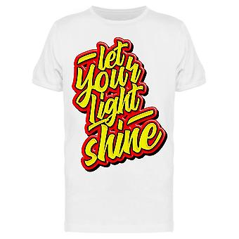 Anna Light Shine Tee Men's -Image Shutterstock