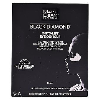 Parches antiarrugas para el área de ojos de diamante negro Martiderm (4 uds)
