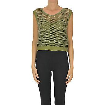 Ermanno Scervino Ezgl078058 Women's Green Cotton Top