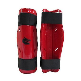 Morgan Dipped Foam Protector Shin Guards Red
