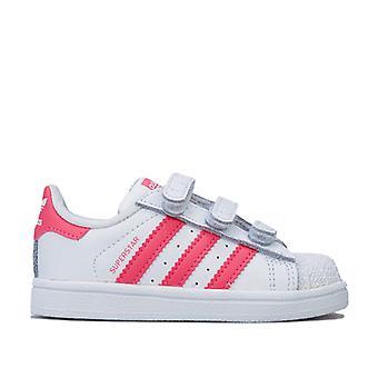 Girl's adidas Originals Infant Superstar CF Trainer in Weiß