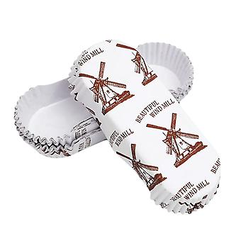 200pc Cupcake Wrappers- Heat Resistant Boat Shape Film, Pet Bread Tray, Paper