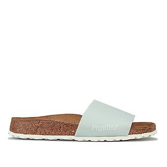 Women's Papillio Cora Slide Sandals Narrow Width in Blue