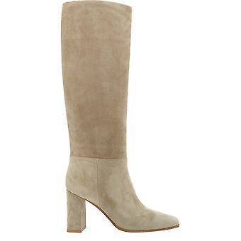 Gianvito Rossi G8048985ricc45bisque Women's Beige Suede Boots