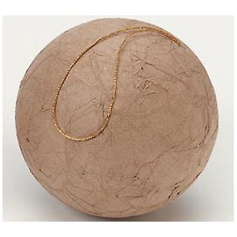 Papier Mache brousse ornement forme pour l'artisanat de Noël - 10cm