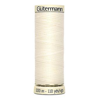 Gutermann Naai-alle 100% polyester draad 100m hand en machine kleurcode - 1