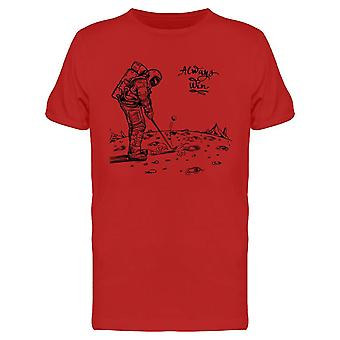 Astronaut Playing Golf Design Tee Men's -Image by Shutterstock