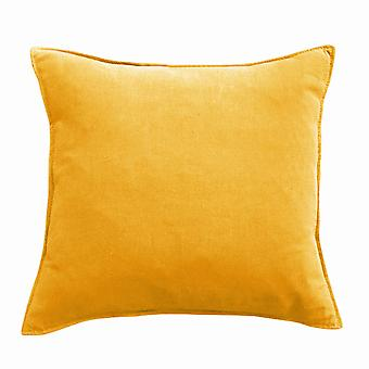 YANGFAN Cotton Linen Fabric Pure Color Square Pillow