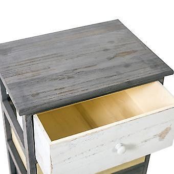 Rebecca Meubellade kast 4 Grey Wood Laden Beige 72x40x29