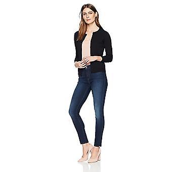 العلامة التجارية - Lark & Ro Women's طويلة الأكمام متوسطة الطول كرورك كارديجان سوي...