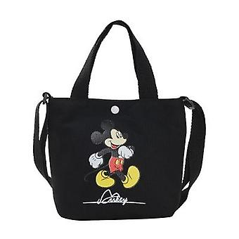 Mickey Mouse Diagonal Shoulder Bag - Portable Korean Canvas Small Bag For Kid