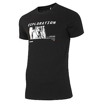 4F TSM015 H4Z20TSM015GBOKACZER universell sommar män t-shirt
