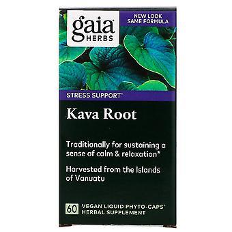 Gaia Herbs, Kava Root, 60 Vegan Liquid Phyto-Caps