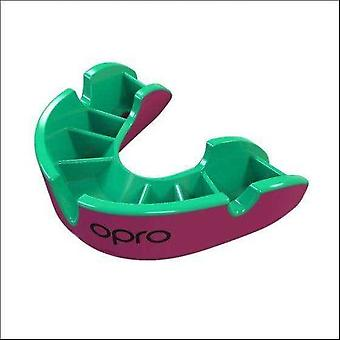 Opro junior silver gen 4 mouth guard pink/green