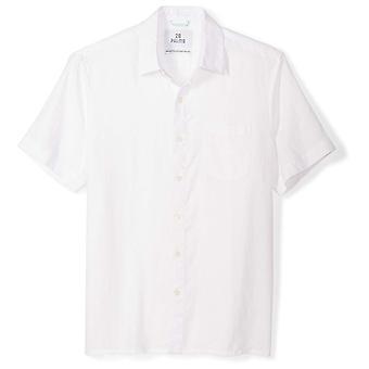 28 Palms Men's Standard-Fit Short-Sleeve 100% Linen Shirt, White, XX-Large