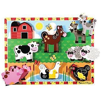 Animales de granja rompecabezas Chunky Melissa & Doug