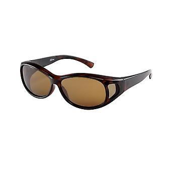 Zonnebril Unisex bruin met bruine lens VZ0007B