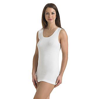 Slenderella V21 Mujer's camiseta de algodón blanco