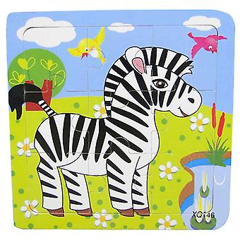 Animal Wooden Puzzles For 3d Mosaic Kids Educational For Baby Birthday