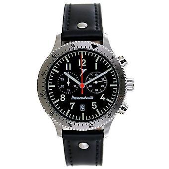 Aristo Men's Messerschmitt Watch Aviator Chronograph ME-5021L Leather