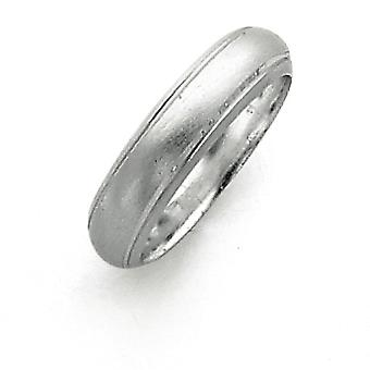 925 Sterling Silver Solid Engravable 5mm Satin Finish Band Ring - Ring Size: 4 to 12
