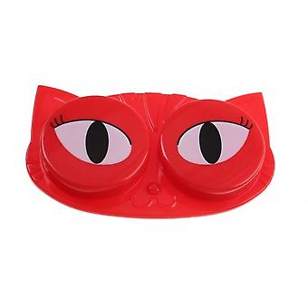 Lens box cat red