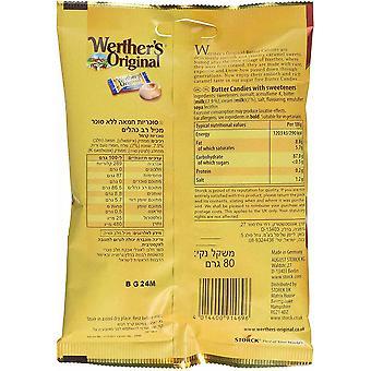 Werthers Original Butter Candies Sugar Free, 65g Bag