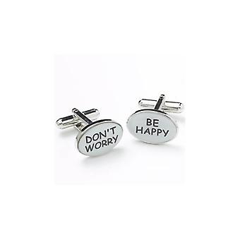 Ties Planet Don't Worry Be Happy Cufflinks