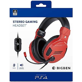 Bigben Official Playstation Gaming Headset V3 For PS4 - Red