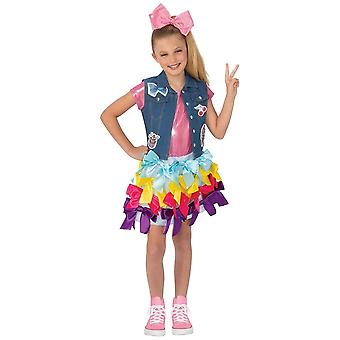 JoJo Siwa Bow Dress Boomerang Music Video Dance Dress Up Child Girls Costume