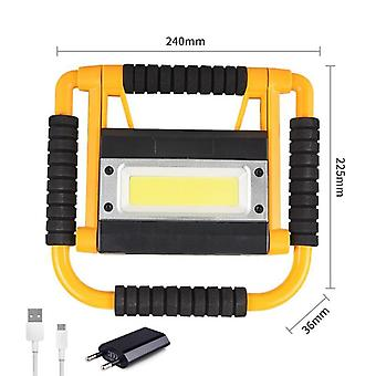100w Brightness Led Work Lamp, Usb Rechargeable Torch Camping Lantern Water