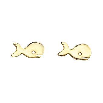 بدايات الجنيه الاسترليني الفضة A971 الذهب لوحة الحوت مسمار الأقراط