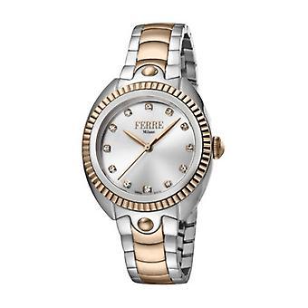 Ferre Milano Women's FM1L088M0101 Silver Dial Two-Tone IP Steel Wristwatch