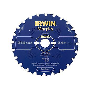 IRWIN Marples Circular Saw Blade 216 x 30mm x 24T ATB/Neg M IRW1897453