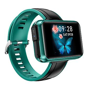 Lemfo T91 Smartwatch Wide Display with Wireless Earpieces - 1.4 Inch Screen - Smartband Fitness Tracker Sport Activity Watch iOS Android Green