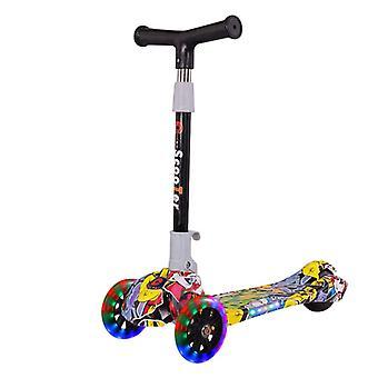 Складной kick Scooter Регулируемый T-бар руль с Led Light Скейтборд