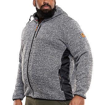 Duke D555 Mens Big Tall King Storlek Ozark Sherpa Fodrad Hooded Jacket - Grå Marl