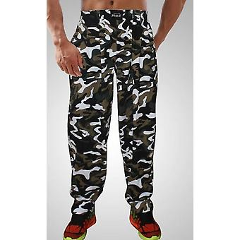 Pantalon baggy bodybuilding pour hommes, pantalon de fitness high elastic cotton clothing