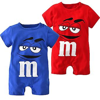 Newborn Baby Clothing Cartoon Printing, Short Sleeved, Jumpsuit For Clothes