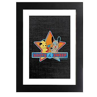 Sooty And Sweet Water Fight Framed Print