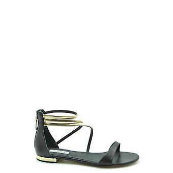 Ninalilou Ezbc115020 Women's Black Leather Sandals