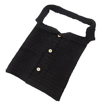 Infant Baby Cotton Knitting Blanket, Crochet Winter Warm Swaddle Wrap Sleeping