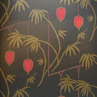 35617 Black Red Gold Oriental