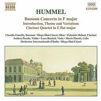 J.N. Hummel - Hummel:Bassoon Concerto in F Major [CD] USA import